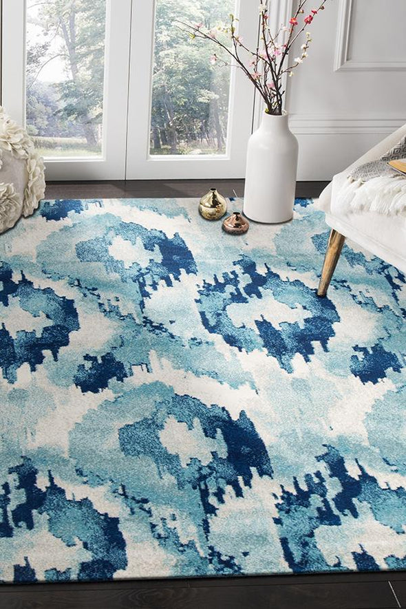 Lesley Whimsical Blue Rug