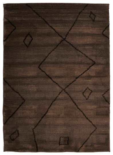 Moroccan Large Diamond Design Rug Chocolate