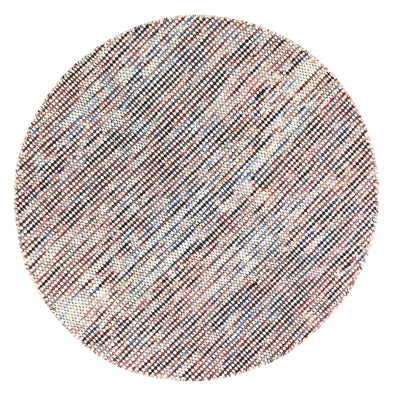 Scandi Multi Reversible Wool Round Rug