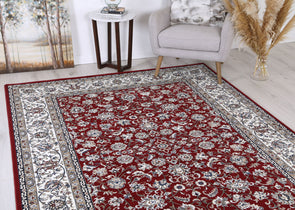Dynasty Border Red Cream Rug