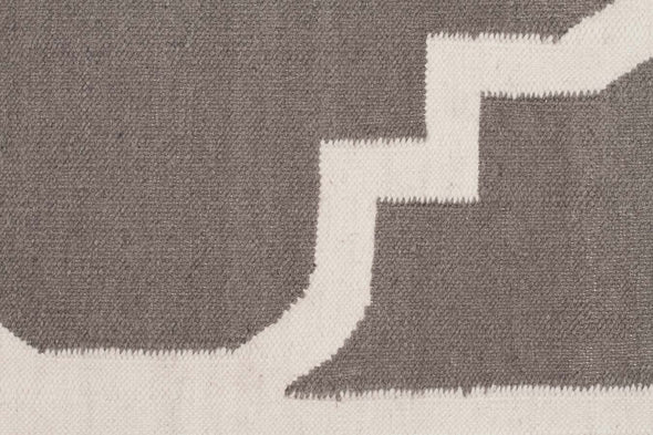 Flat Weave Large Moroccan Design Rug Grey