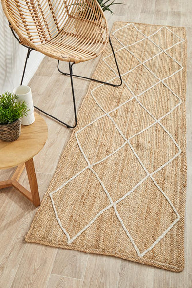 Byron 222 Natural Runner Rug