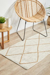 Byron 222 White Runner Rug