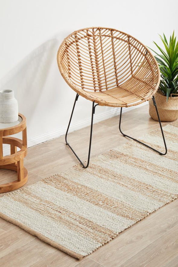 Byron 555 Natural White Runner Rug