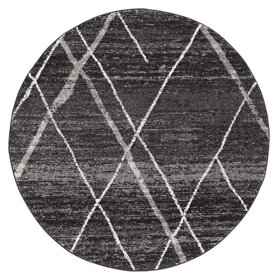 Noah Charcoal Contemporary Round Rug