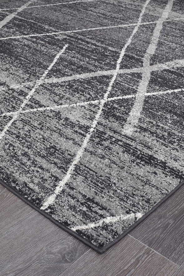 Noah Charcoal Contemporary Rug