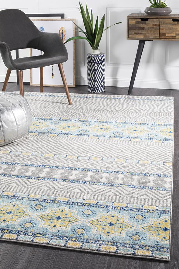 Sabrina Blue Tribal Rug