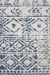 Ismail White Blue Rustic Rug