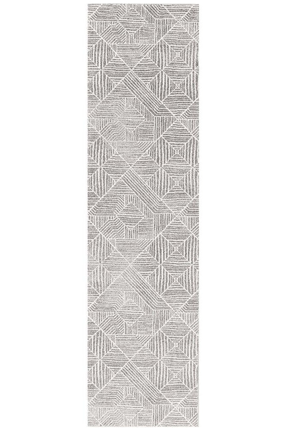 Kenza Contemporary Silver Rug