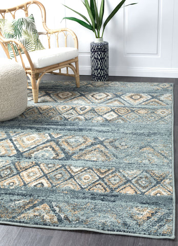 Mayfair Contrast Blue Rug