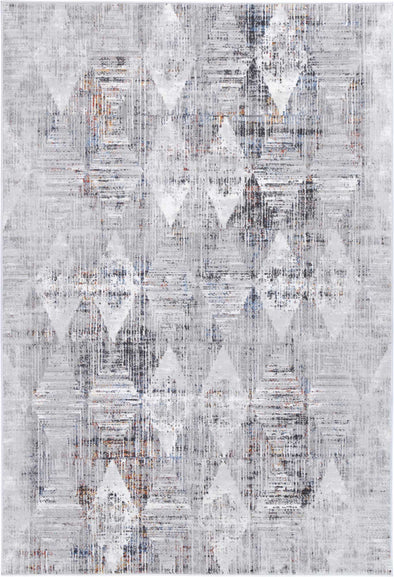 Almada Grey Multi Diamond Transitional Rug