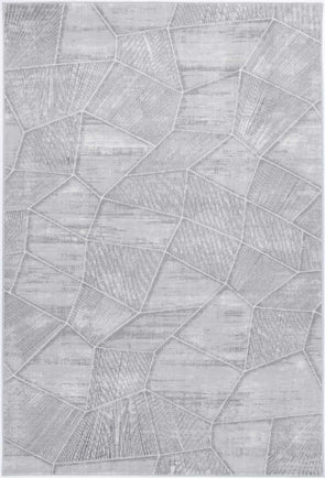 Almada Grey Tiled Geometric Rug
