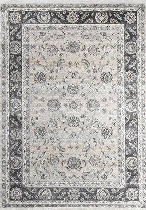Oregon Beige Grey Border Rug