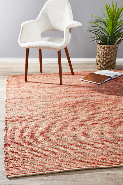 Array Jute Coral Solid Rug