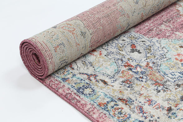 Hollow Medalion Transitional Blush Rug