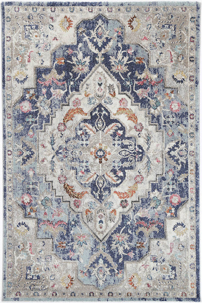 Alexander Transitional Navy Multi Rug