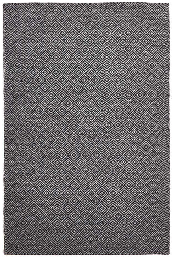 Shiva Stunning Black Diamond Wool Rug