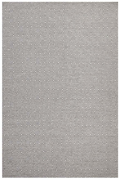 Shiva Stunning Dark Grey Diamond Wool Rug