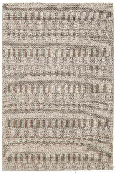 Hand Braied Grey Felted Wool Rug