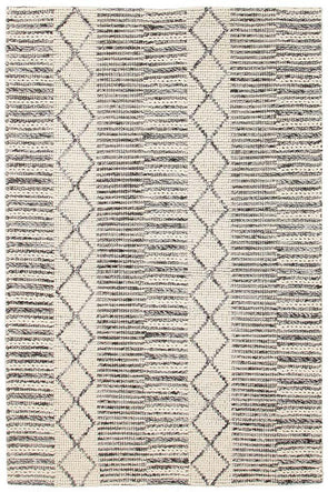 Hellena Braied Grey Wool Rug