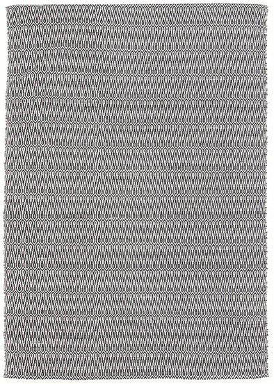 Austin Textured Modern Rug Black White