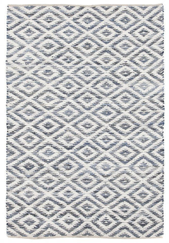 Owen Diamond Textured Rug Blue
