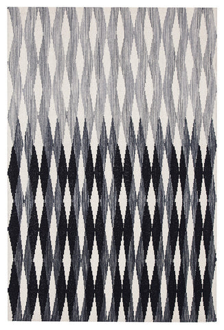 Frida Uber Gradient Rug Black Grey White