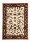 Classic Rug Ivory with Red Border
