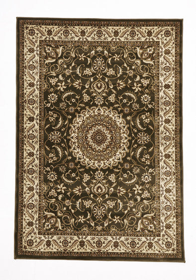 Medallion Green Ivory Traditional Rug