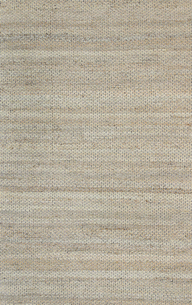 Taj Natural Basket Weave Black Jute Rug