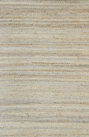 Taj Natural Basket Weave Blue Jute Rug