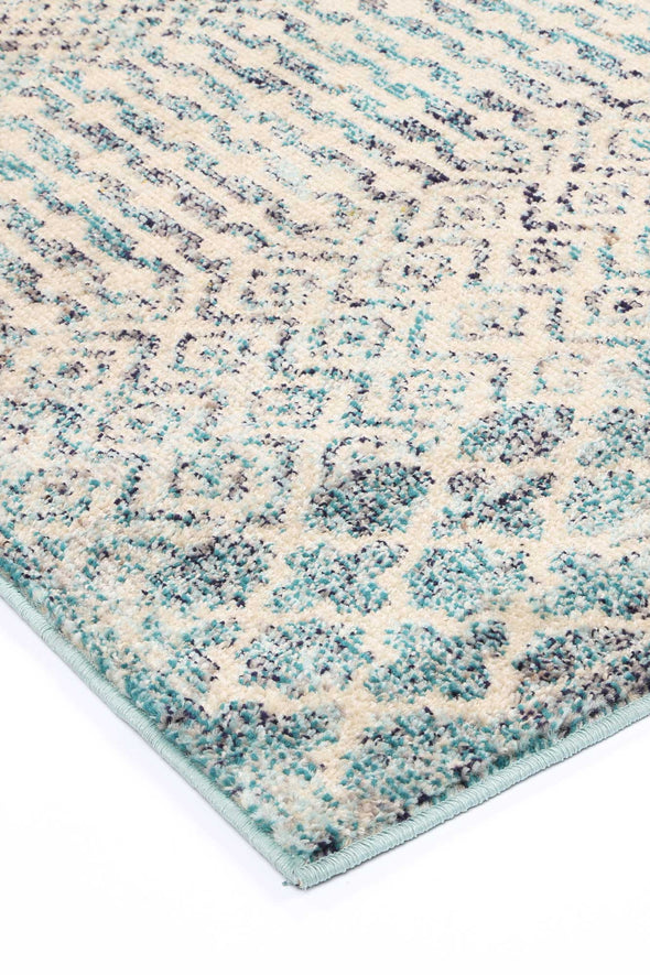 Micah Multi Blue Geometric Rug