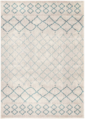 Asli Blue Lattice Rug