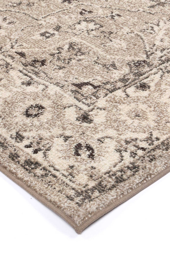 Micah Beige/White Traditional Rug