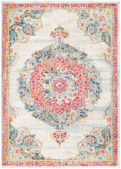 Asli Sky Blue/Multi Traditional Rug