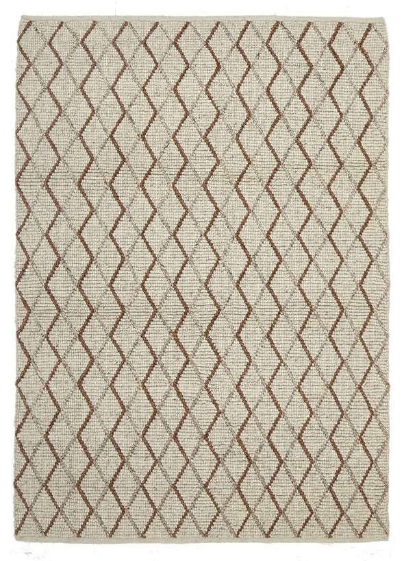 Luxury Madras Felted Wool Rug Blue Copper