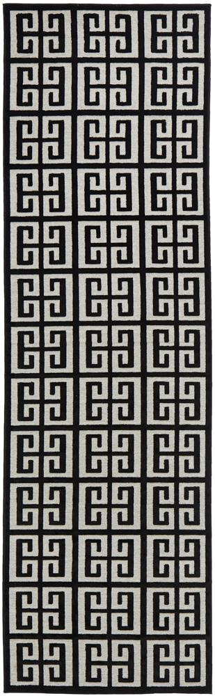 Chicago Brenda Black & Gold Runner Rug