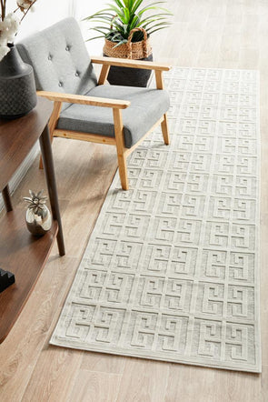 Chicago Brenda Natural White Runner Rug