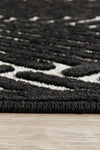 Chicago Cindy Black & Gold Runner Rug