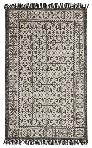 Totemic Clan Black Rug