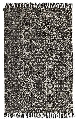 Totemic Dynasty Black Rug