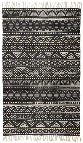 Totemic Throng Black Rug