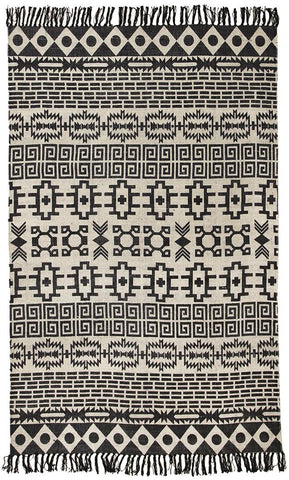 Totemic Flock Black Rug