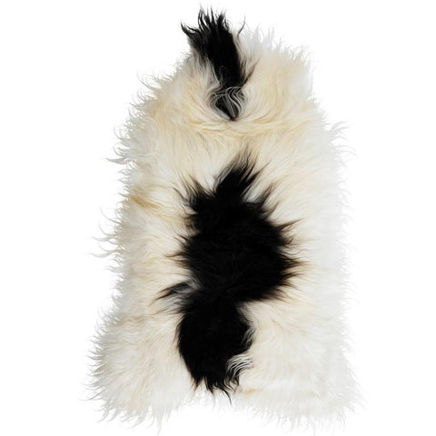 Icelandic Sheepskin Rug - White with Black Spots