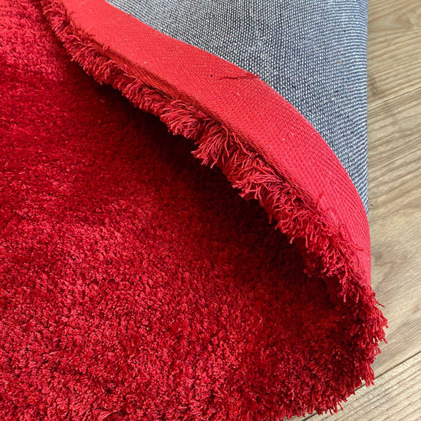 Heart Shape Red Shag Rug