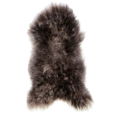 Icelandic Sheepskin Rug - Grey with Black Tips