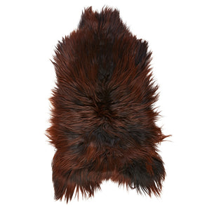 Icelandic Sheepskin Rug - Natural Brown with Auburn Tips