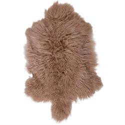 Mongolian Sheepskin Throw - Camel