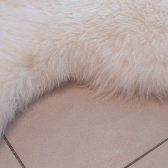 Cowhide White Sheepskin