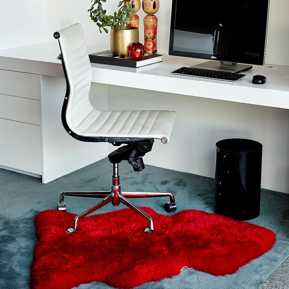 Sheepskin Rug Merino - Red